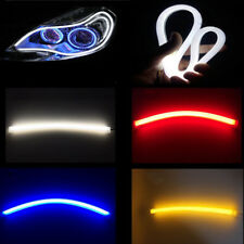 2 x Car LED DRL Daytime Running Light Flexible Tube Strip Red Blue Yellow White