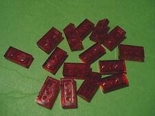 Lego - 15 placas 2x1 transparente rojo (12544) - nuevo