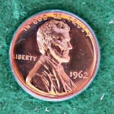 1962 LINCOLN HEAD MEMORIAL BACK PROOF CENT