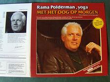 RAMA POLDERMAN, YOGA met het oog op morgen - LP + BOOK 18 PAGES 1977 ELF 47 14 G