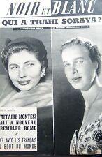 SORAYA et PRINCESSE GABRIELLE en COUVERTURE de NOIR et BLANC No 721 de 1958