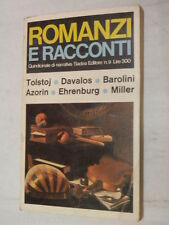 ROMANZI E RACCONTI N 9 Alessandro Ronzon Sadea Editore 1966 Tolstoj Miller libro