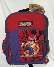 """Yu-Gi-Oh~ SMALL  CANVAS BACKPACK    12"""" X 10""""  RED &PURPLE ACCESORY NETWORKS"""