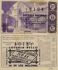 Año 1962. 25 Pesetas Décima parte del billete. 15 de Junio. Sorteo 17. 4ª Serie.