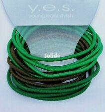 15 Stück elastische dünne Haargummis Haarbinder Zopfgummi Haarband grün SOLIDA