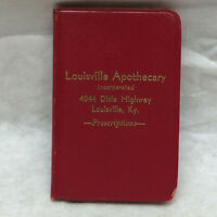 Vintage 1952-53 Louisville Apothecary Pocket Address Book
