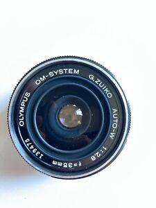 Olympus OM Film Zuiko 35mm f2.8 Auto W Compact Wide Angle  Lens