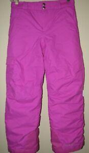 COLUMBIA Waterproof Snow Ski Snowboard Pants Outgrown System Girls M 10/12