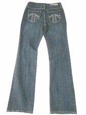 SEVEN7 Jeans High Rise-Waist Boot Cut Embroidered Pocket SZ 4 x 32 Ins.