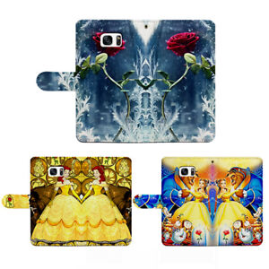Rose of Beauty and the Beast Flip Wallet Phone Case fit for iPhone &Samsung