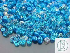 20g Czech SuperDuo Twin Beads Light Blue Mix