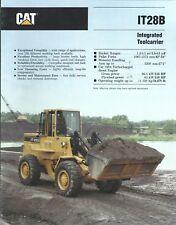 Equipment Brochure - Caterpillar - It28B - Integrated Toolcarrier 1989 (E4501)