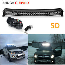 32inch 300W Curved LED Light Bar Spot Flood Combo Wiring Harness Offroad SUV ATV