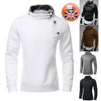 Mens Casual Slim Fit Top Fashion Hoodie Fleece Jumper Zip Coat Jacket