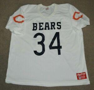 Vtg Walter Payton Chicago Bears Rawlings NFL Football Jersey XL