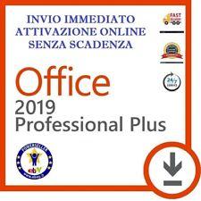 LICENZA MICROSOFT OFFICE 2019 PROFESSIONAL PLUS 32 / 64 BIT CODICE ESD ORIGINALE