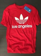 RARE NEW adidas Original Los Angeles Red Trefoil Crewneck T-Shirt Men X-Large XL