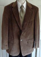 Evan Picone brown cotton corduroy sport coat jacket 40R