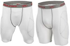Rawlings Adult Men's Baseball Sliding Shorts White