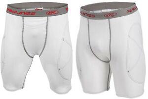Rawlings Adult Men's Baseball Sliding Shorts White