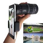 16X52 Camera Monocular Zoom Optical Lens Telescope Phone Clip for Smart Phone