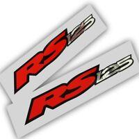Aprilia Rs 125 Motorrad Grafik Aufkleber X 2 Rot Silber Chrom & Schwarz