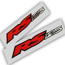 Aprilia Rs 125 Motocicleta gráficos Stickers Calcomanías X 2 Plata Roja Cromo Y Negro