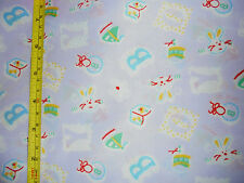 Baby boy novelty fabric material nursery new child bunny rabbit drums boats