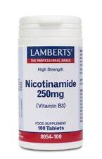 Lamberts Nicotinamide (Vitamin B3) 250mg - 100 tablets