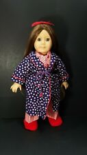 Pleasant Company American Girl Doll Molly McIntire Pajamas Robe Slippers Retired