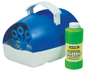 Bubble Machine Battery Operated Portable Blue with Fluid - Cheetah Party Time