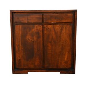 Contemporary Solid wood Small Sideboard Chocolate Brown (MADE TO ORDER)