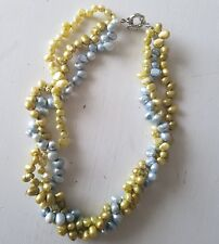 PRETTY FRESHWATER PEARLS! PALE GREEN AND GREY..UNIQUE COLOURS..GREAT FOR SUMMER!