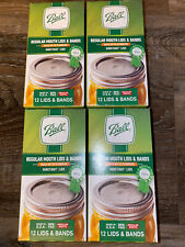 Ball ~ Canning Bands & Lids Fits Regular Size Jars ~ 48-Pack