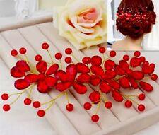 Hermosa Flor del Rhinestone Fiesta Boda Nupcial Peine de Cabello Clip de horquilla