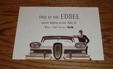 1958 Edsel Ford Foldout Sales Brochure 58