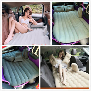 Car Inflatable Travel Mattress Air Bed Back Seat Sleep Rest Mat with Pillow