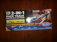 AUTO WORLD~2-IN-1 Race Track  Stock Car Racing 4Gear and Super 3 Racers