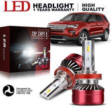 H11 LED Headlight Bulb Low Beam 2 PCS For 2013-2015 Acura ILX White 6000K YDW