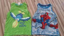 2 Kinder T-Shirt, Axelshirt, Tanktop,Jungen, Spiderman, C&A, Größe 104
