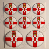 Adesivo Irlanda del Nord Resinato 3D Adesivi Bandiera Irlanda del Nord Resinati