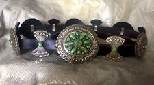 Concho Belt, American Indian, Navajo, D.Cadman Sterling Silver/Turquoise ,Signed