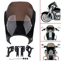 Lampenmaske Scheinwerfer Verkleidung Fairing Für Harley Road King FLHR 1994-2014