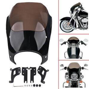 Lamps Mask Headlight Fairing Fairing For Harley Road King FLHR 1994-2014