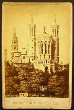 Foto c1900 Basílica iglesia Notre-Dame Fourvière Fotografía antigua 16 cm