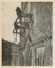 D1205 Perugia - Il Palzzo del Popolo - Stampa antica - 1921 old print