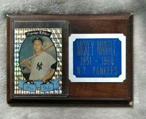 "Mickey Mantle Plaque W/ Card Sticker 5""x7"""