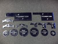 TTCombat Templates, Designed for Warmachine (Dark Blue)