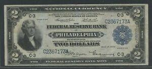 "FR754 $2 1918 FRBN ""BATTLESHIP"" NOTE  CHOICE VF HW5074"