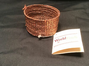 World Trade Copper Hand Crafted Beaded Bracelet Artisan Made
